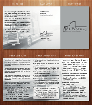 Brochure Design by Ekanite - Mi-Way Trans brochure
