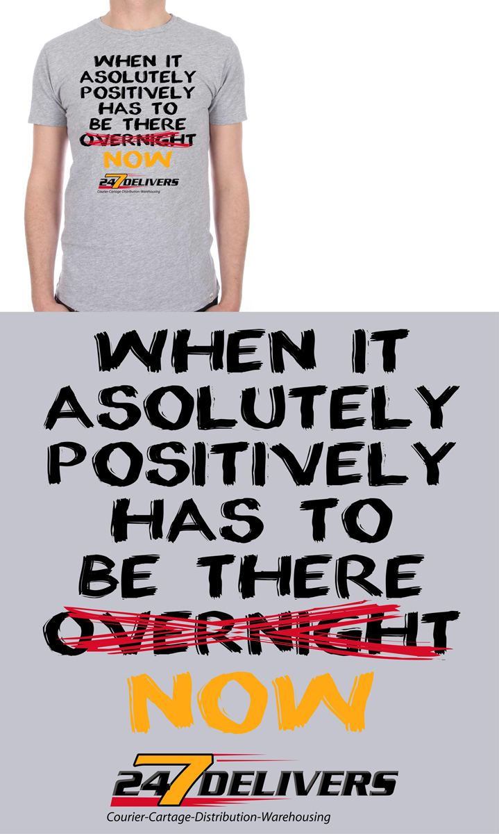 T Shirt Design For 247 Delivers By Piersols Design 4732706