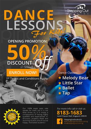 Dance Studio Launch Poster