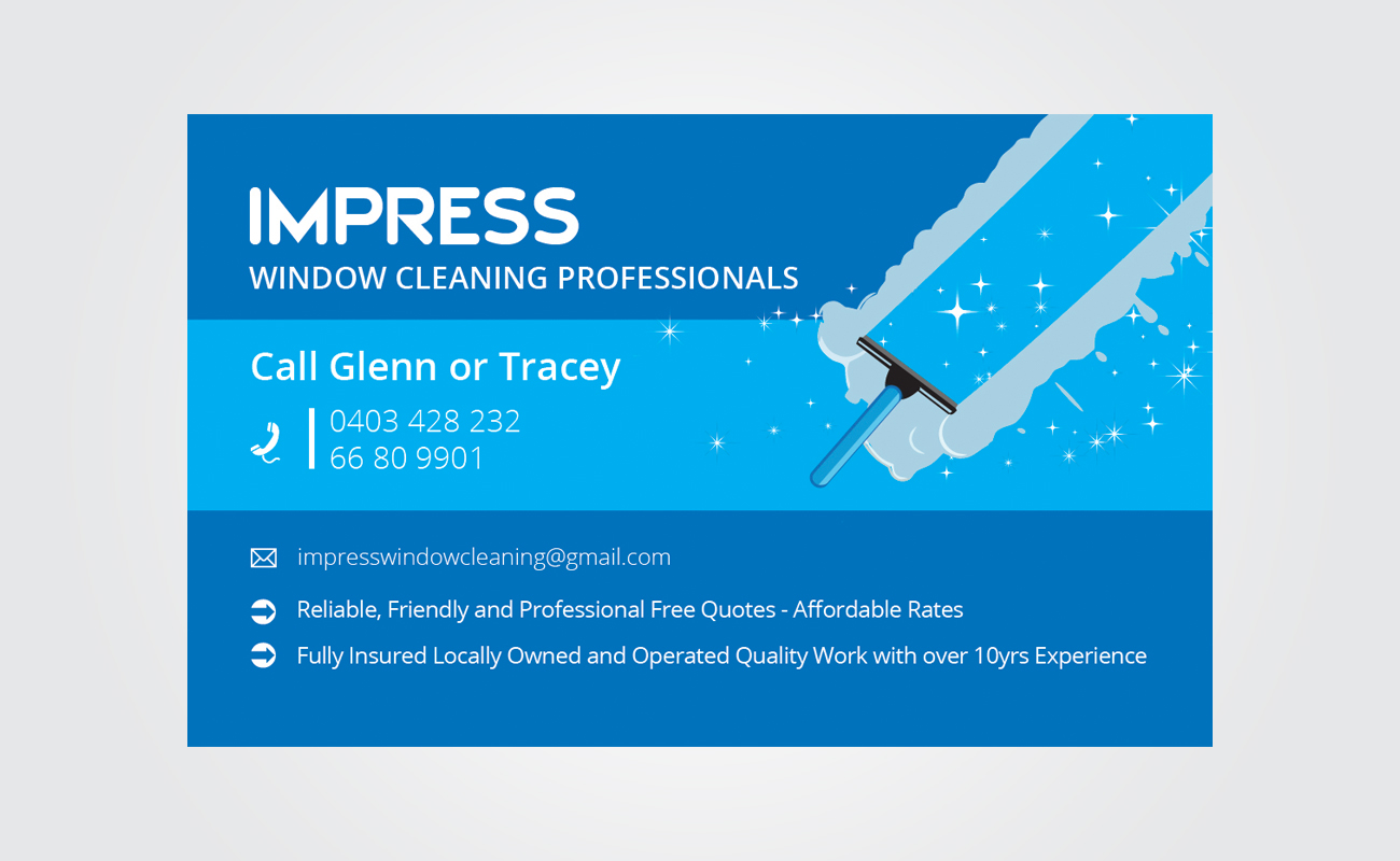 Window Cleaning Business Card Design for a Company by Antony J ...