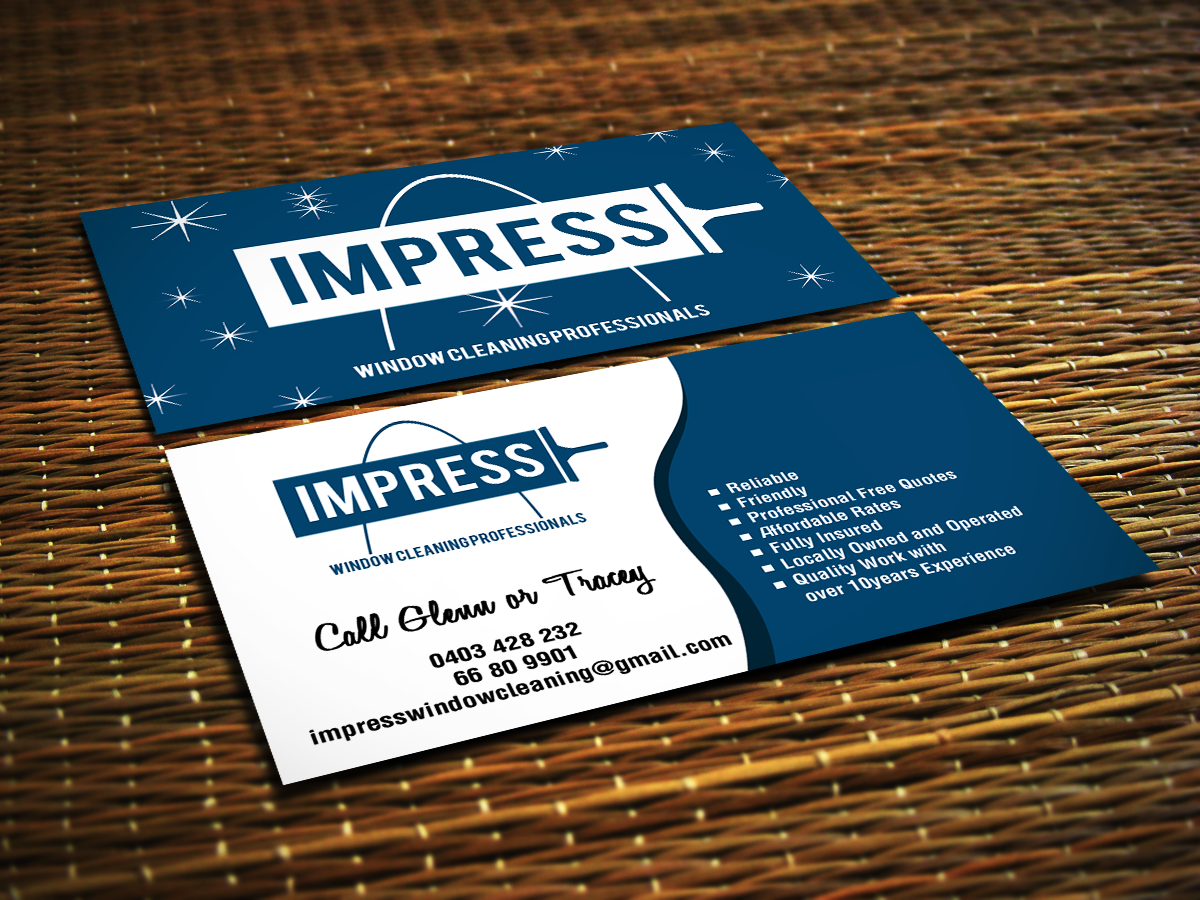 Window Cleaning Business Card Design for a Company by Sajin | Design ...