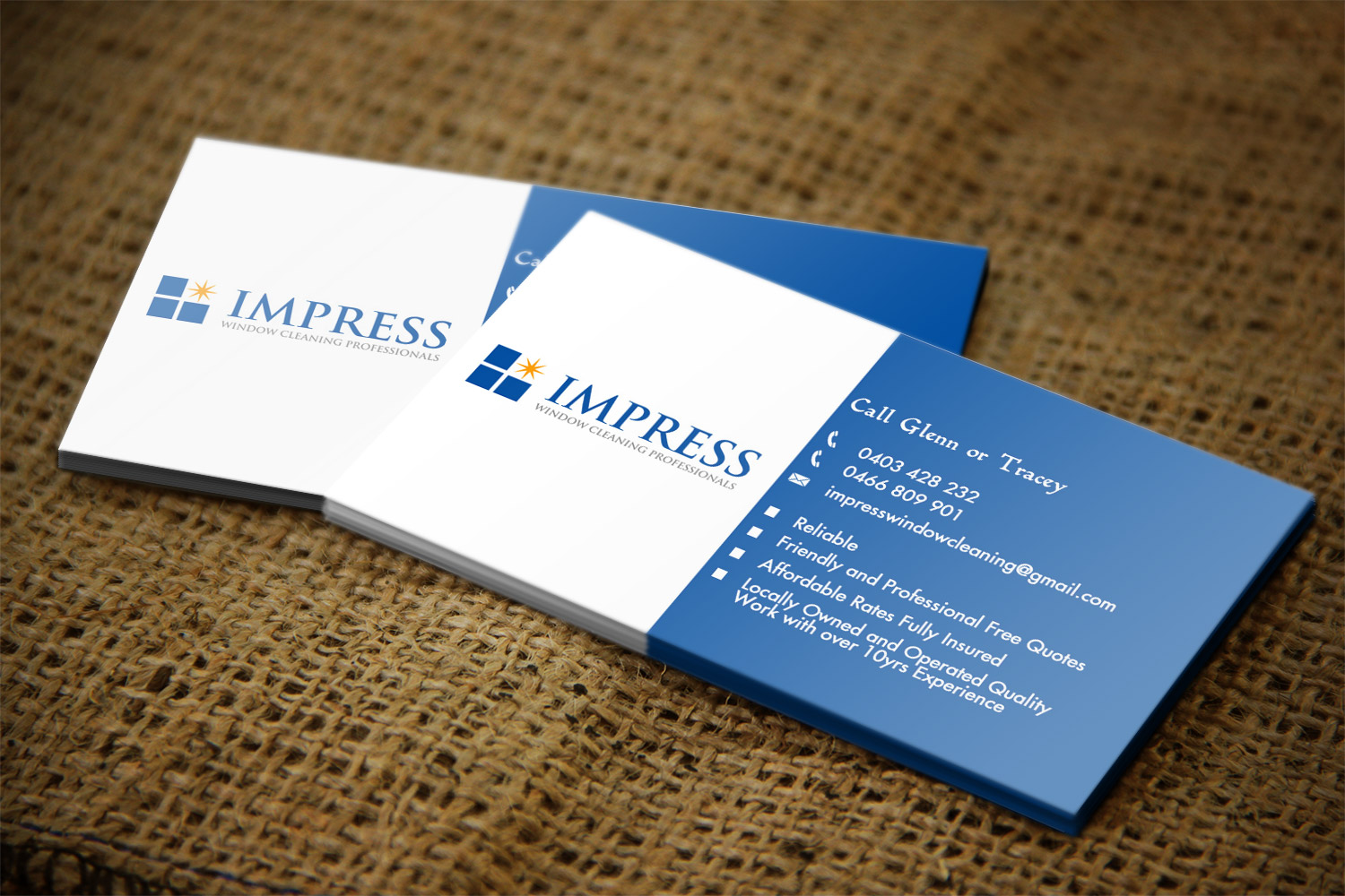 Window Cleaning Business Card Design for a Company by Creation Lanka ...