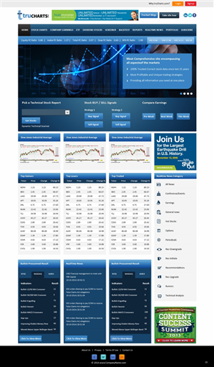 Web Design by pb - Trucharts.com Website homepage redesign for con...