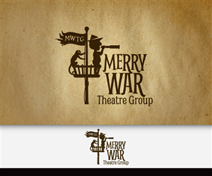 Logo Design by Adsonix - Merry War Theatre Group Logo