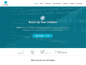 Web Design by bllablla - Zazler homepage