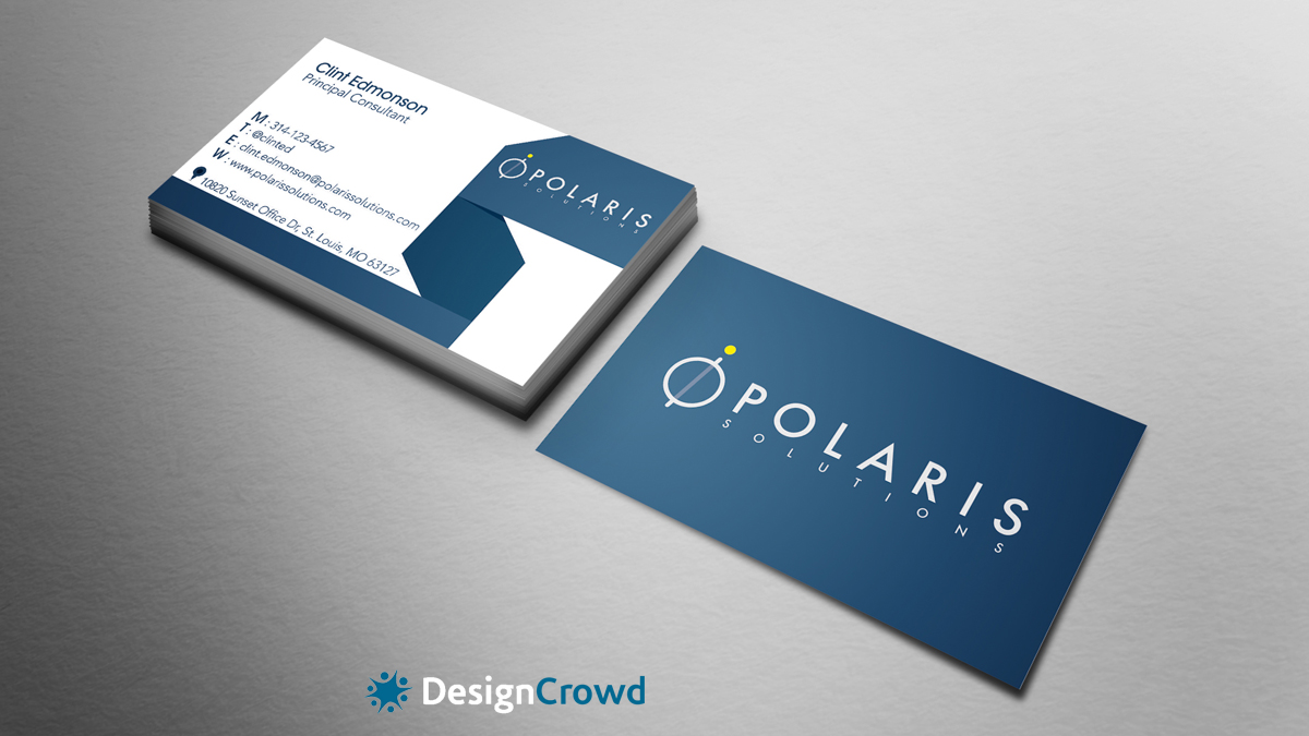 Business Business Card Design for Polaris Solutions by Sheeraz ...