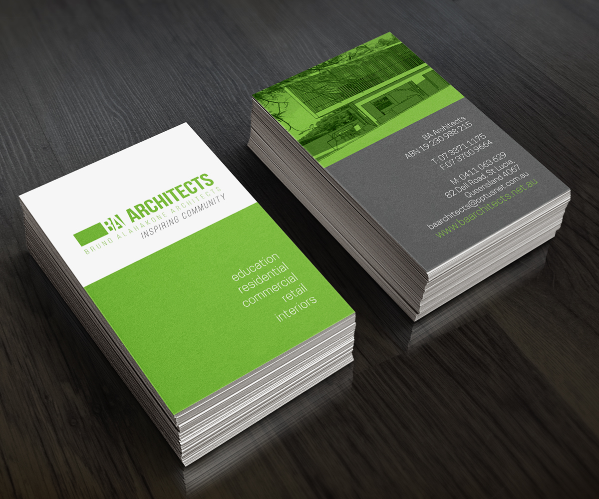 Professional Service Business Card Design for BA Architects by see ...