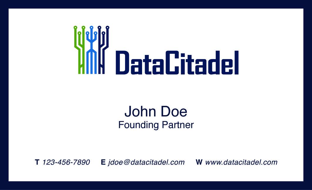 Design De Carte Visite Business Pour Data Citadel LLC En Aux United States