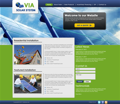 Golf Website Bidding Company Design 227678