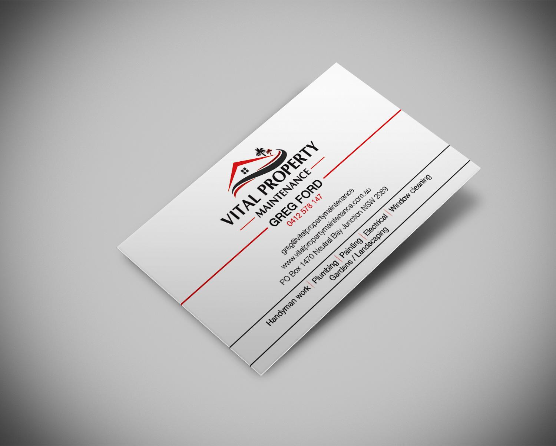 Property maintenance business card design for a company by for Property maintenance business cards