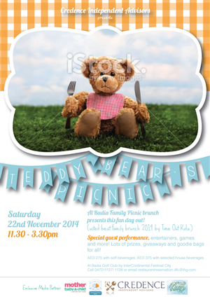 Advertisement Design by redshoes - Teddy Bears Picnic Event