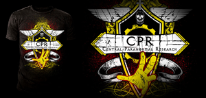 T-shirt Design by steve13 - Paranormal Research logo for Black Tshirts