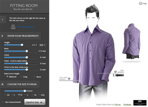Web Design by IronWebDesign - Virtual Fitting Room Design