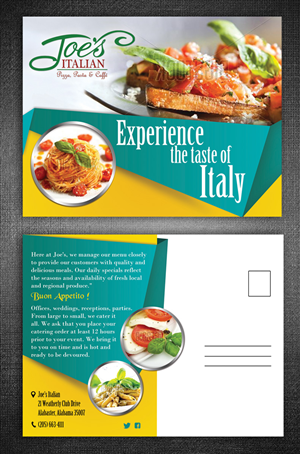 postcard design for sonia bertolone by esolz technologies - Postcard Design Ideas