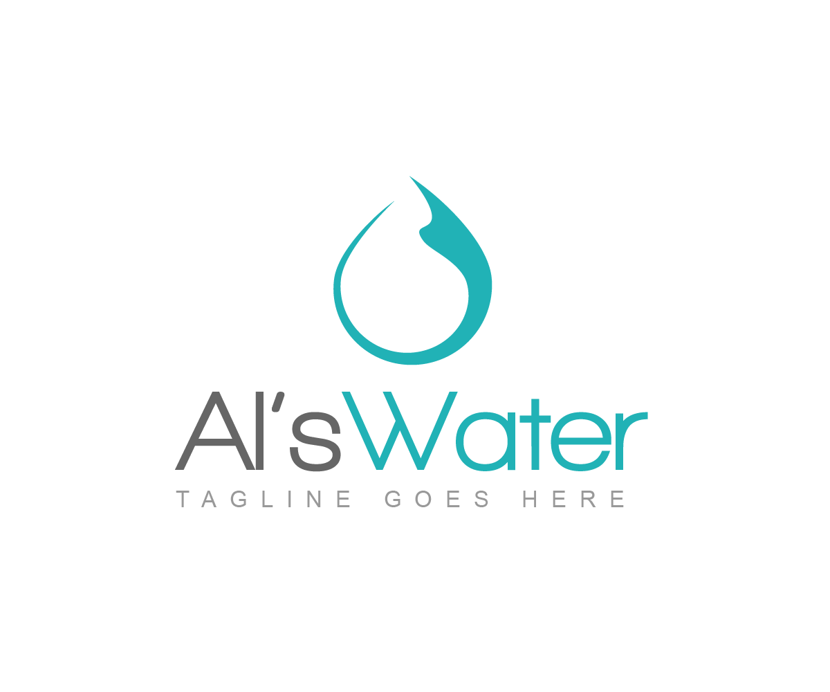 bold modern water treatment logo design for als water