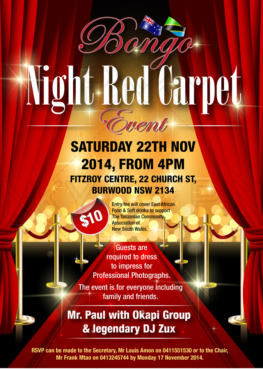 Poster design questionnaire - Poster Design By Pinky For Bongo Night Red Carpet Event Design 4734832