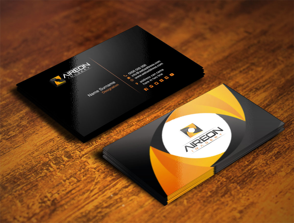 16 Bold Business Card Designs | Videography Business Card Design ...
