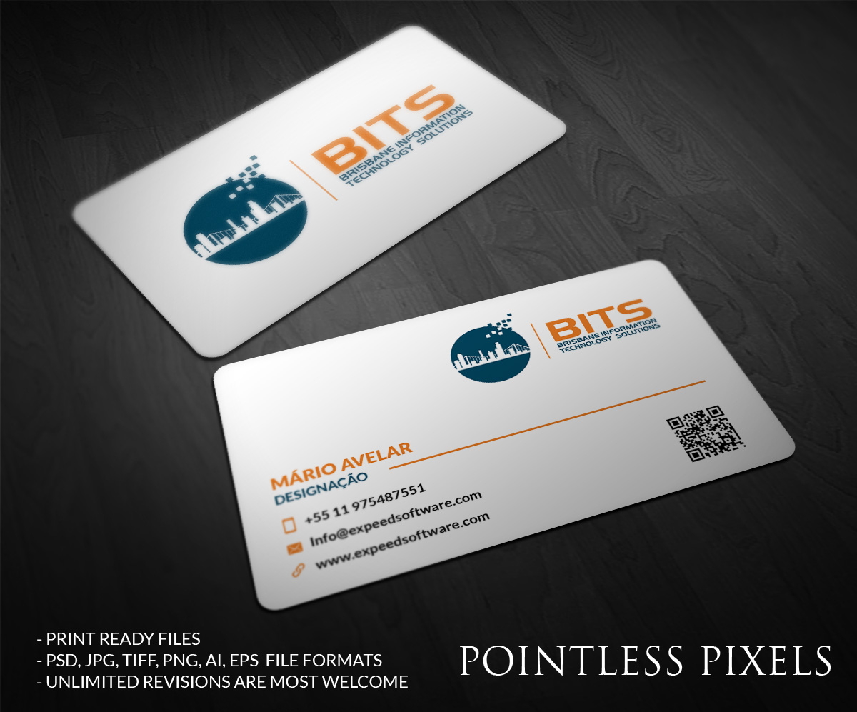 Modern professional business business card design for a company by business card design by pointless pixels india for this project design 4787821 reheart Gallery