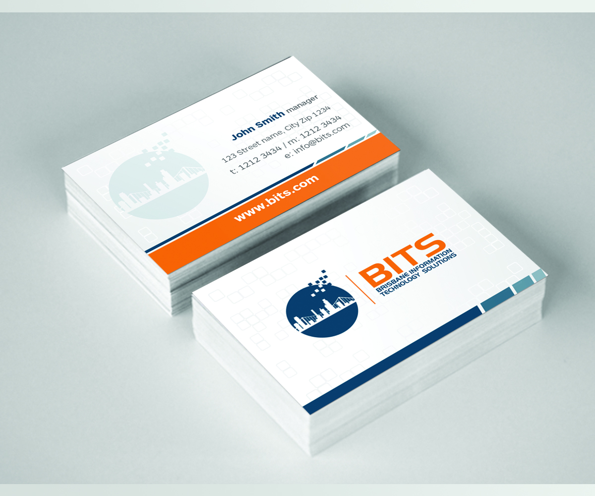 Modern professional business card design for james lemon by wall business card design by wall jamboree for brisbane it support business needs our first business magicingreecefo Image collections