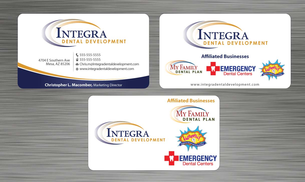 Serious, Traditional Business Card Design for My Family Dental ...
