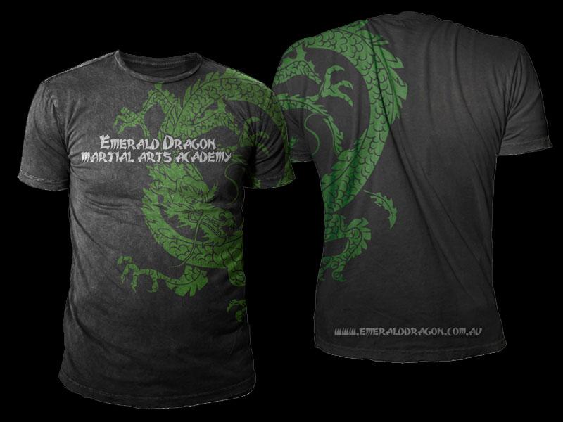 c507831c T-shirt Design by Black Planet for Emerald Dragon Martial Arts Pty Ltd |  Design