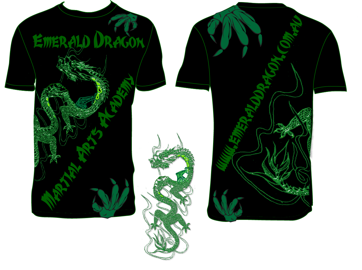 Modern conservative t shirt design for emerald dragon for Modern t shirt designs