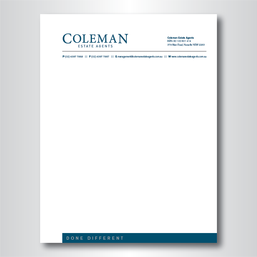 It company letterhead design for coleman estate agents by dotnot it company letterhead design for coleman estate agents in australia design 4741887 altavistaventures Gallery