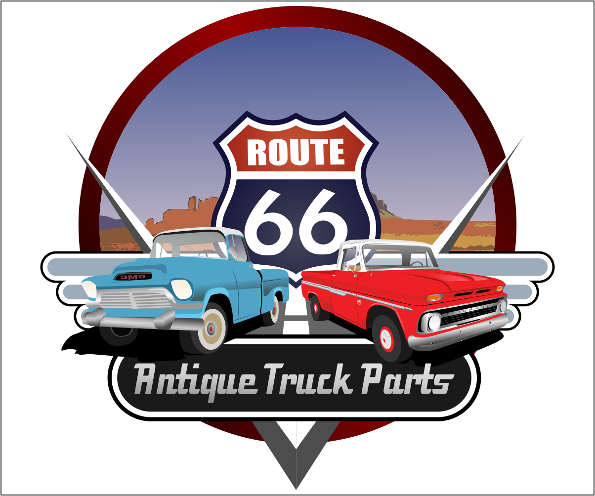 It Company Logo Design For Route 66 Antique Truck Parts By