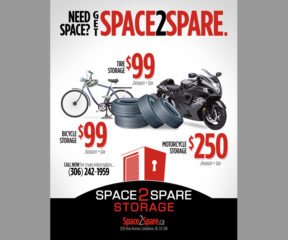 Poster design 99 - Poster Design By Brian Ellis For Space 2 Spare Storage Poster Ad Design 4798168
