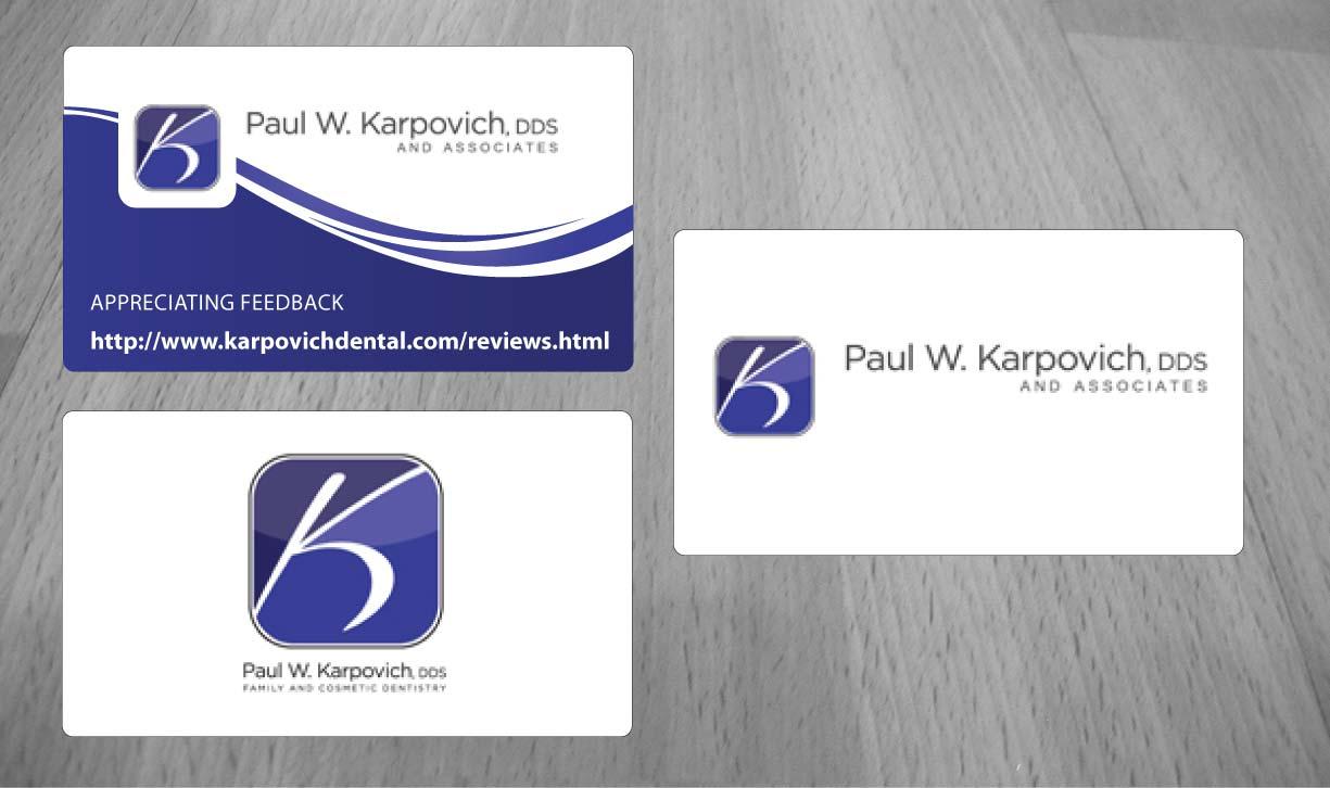 Modern professional business business card design for paul business card design by sbss for paul karpovich dds design 1348669 reheart Gallery