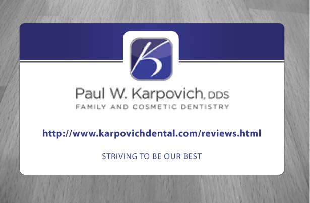 Modern professional business business card design for paul business card design by sbss for paul karpovich dds design 1353852 reheart Gallery
