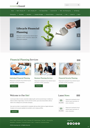 Financial Planning Web Designs