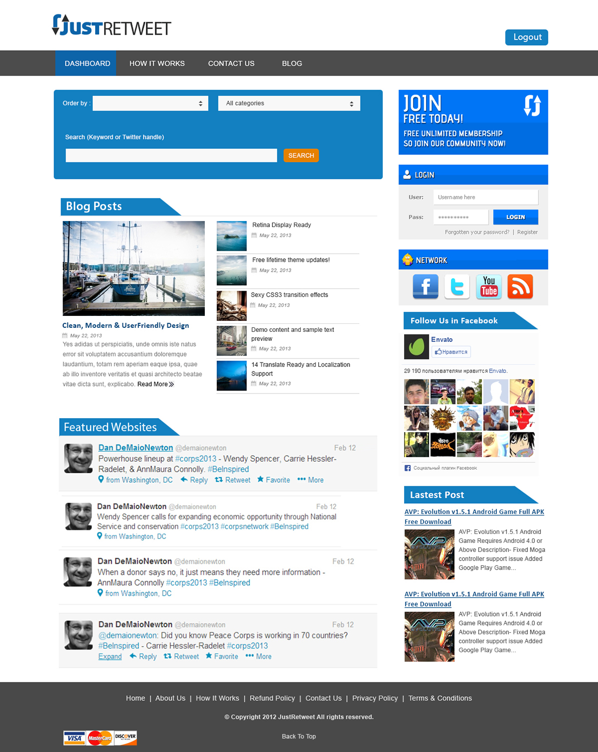 Modern, Personable, Social Web Design for a Company by webxvision