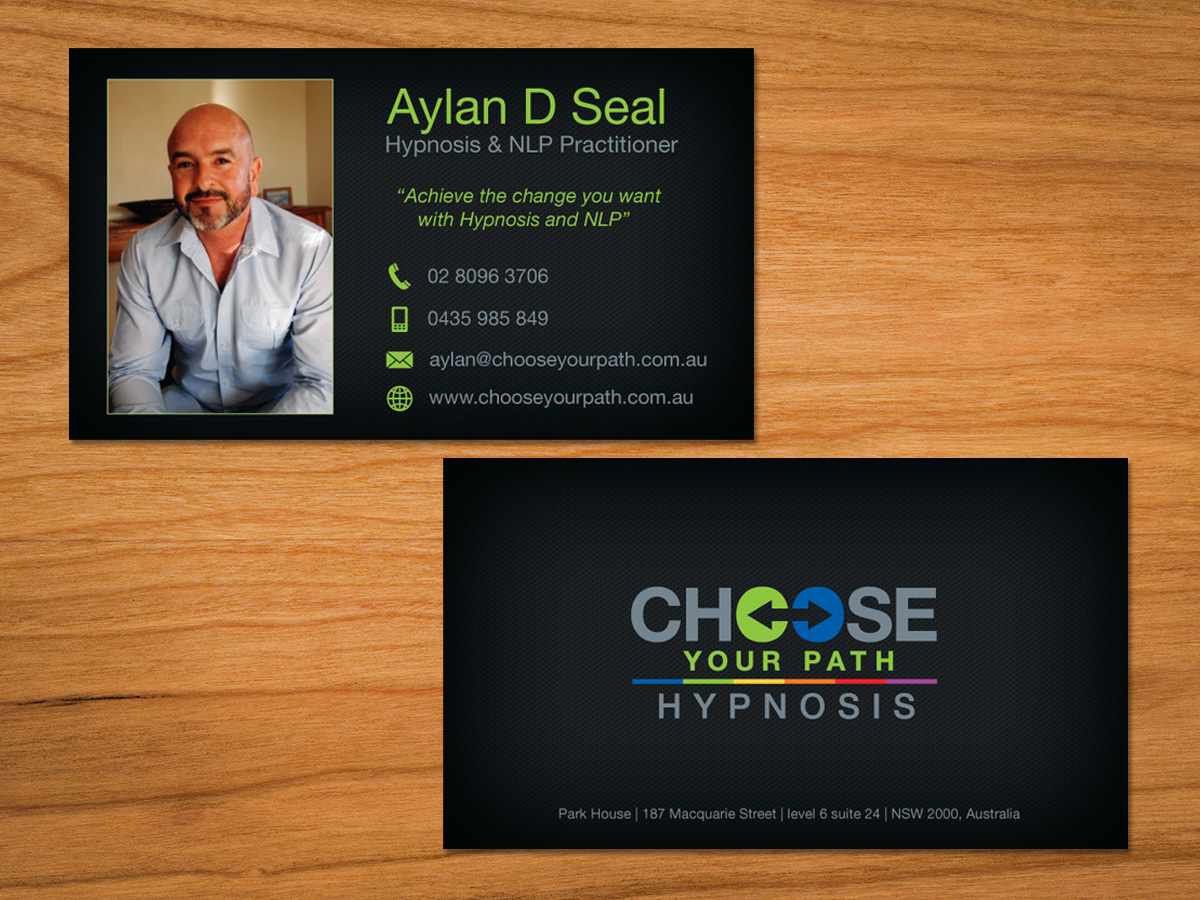 Bold Professional Business Card Design For Choose Your Path By