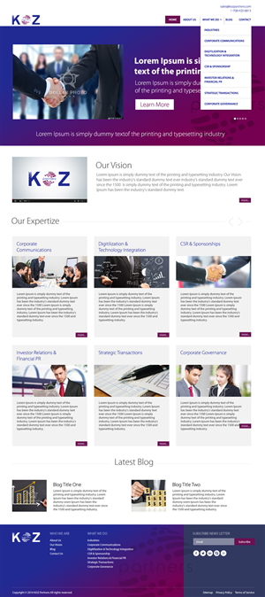 Web Design by bedesign - Project KOZ