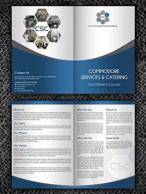 Brochure Design by hih7 - Catering and Cleaning Company requires brochure