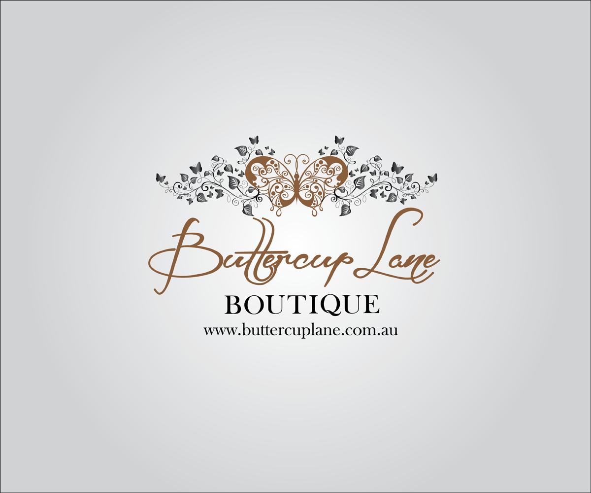 Elegant Feminine Logo Design Design For Buttercup Lane