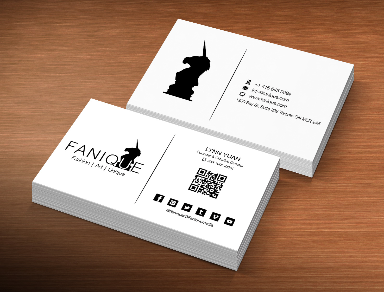 Elegant playful business business card design for fanique by business card design by creation lanka for fanique design 4784219 colourmoves
