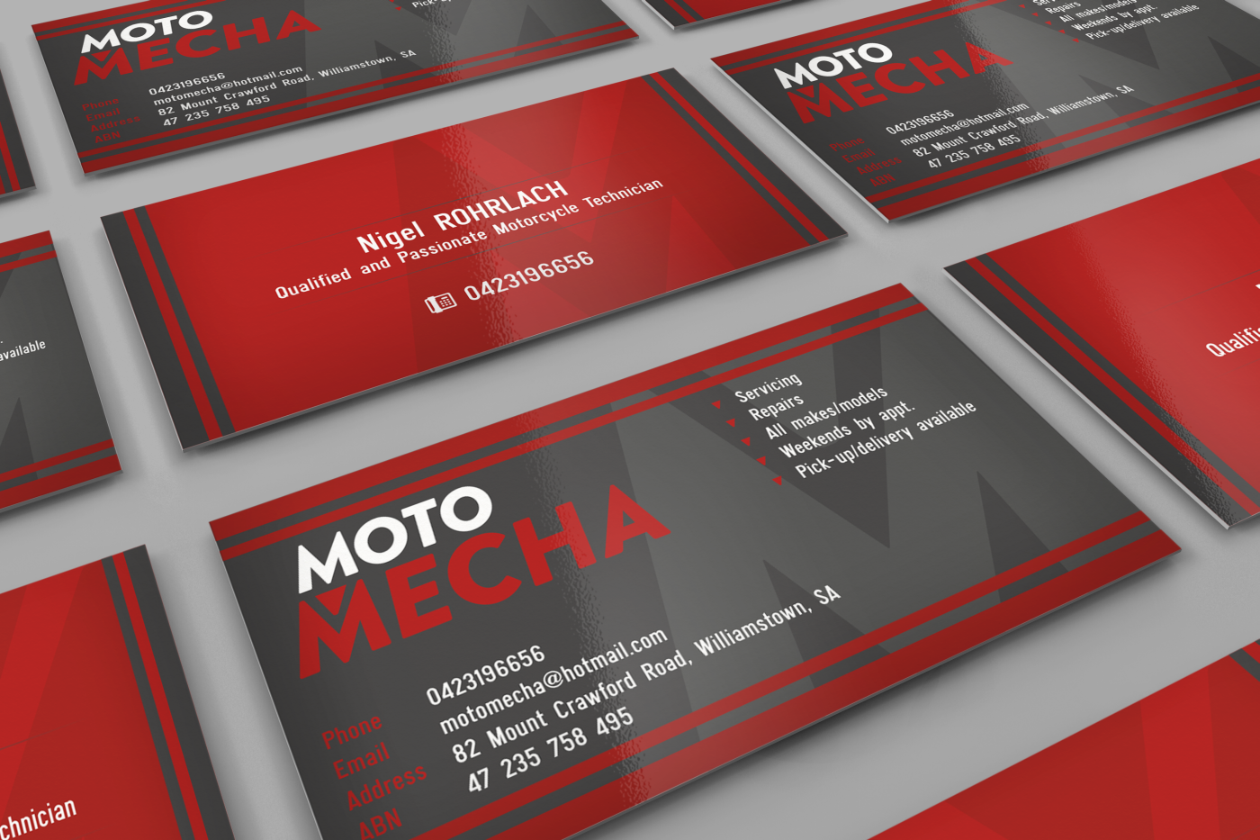 Elegant, Playful Business Card Design for Moto Mecha by HYPdesign ...