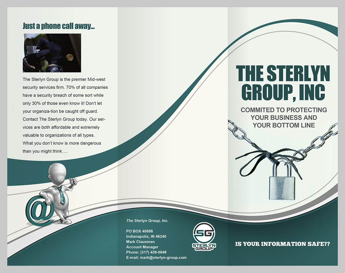 security brochure design for a company by danang prastiawan design
