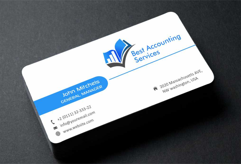 Best Business Cards 2020.Accounting Business Card Design For Best Accounting Services