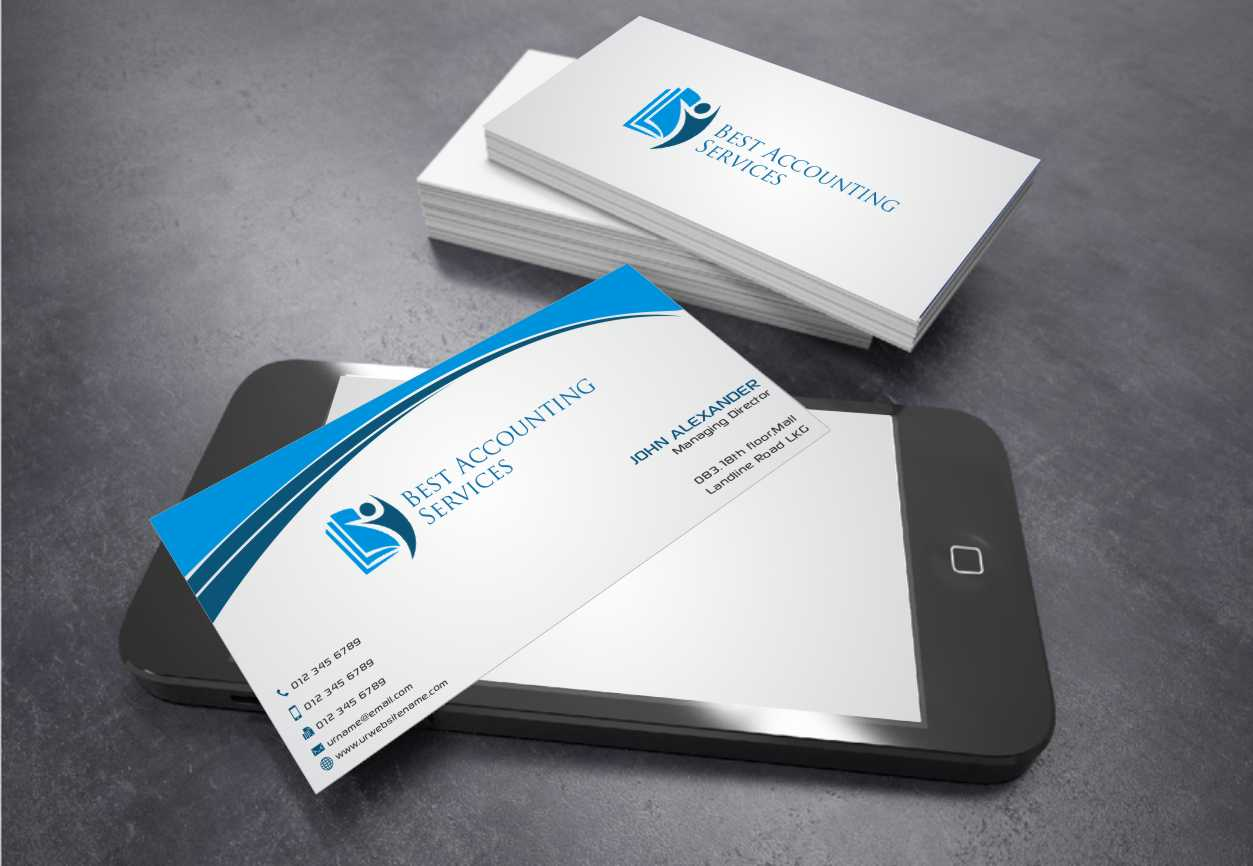 business card design for best accounting services pty ltd by