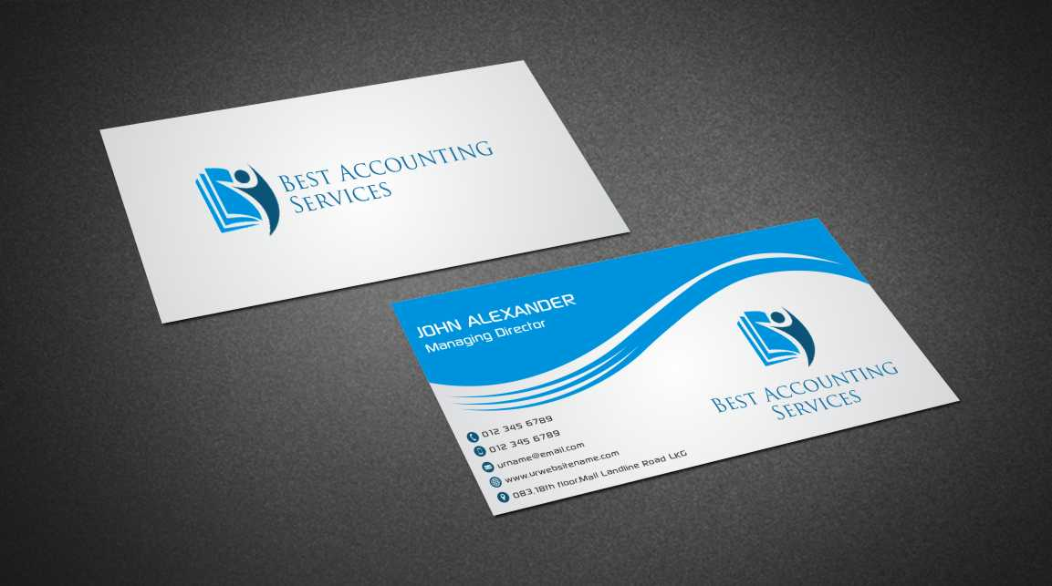 Accounting Business Card Design For Best Accounting Services Pty Ltd