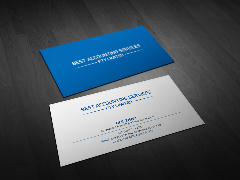 Accounting Business Card Design for Best Accounting Services Pty Ltd ...