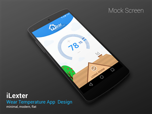 App Design by iLexter - Android Watch app inspired by the Nest Thermostat