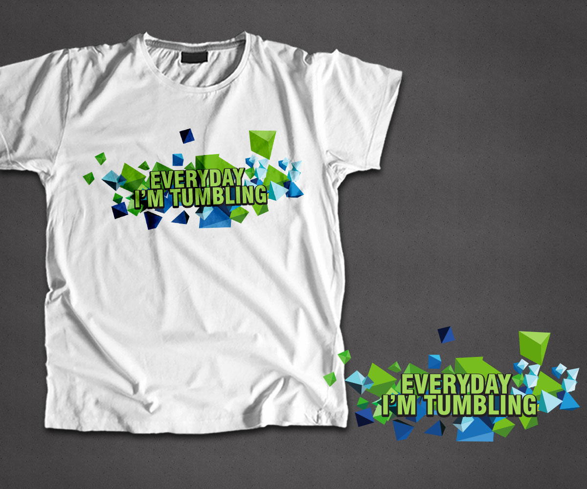 Modern playful t shirt design for gym with me by adk ak Gymnastics t shirt designs