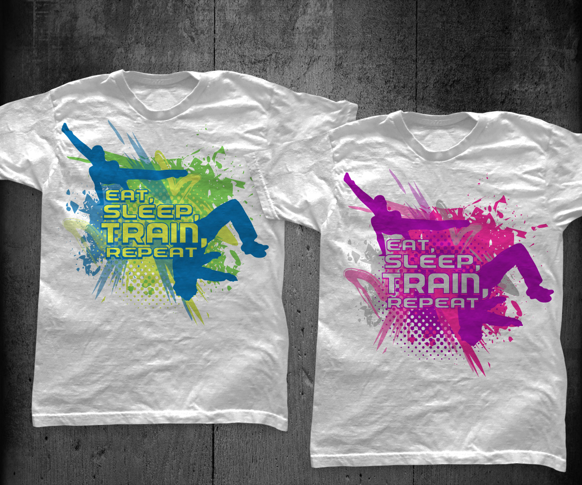 Modern playful quotes t shirt design for gym with me by Gymnastics t shirt designs
