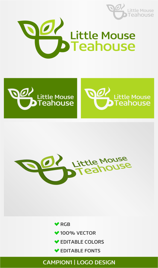 Catering Logo Design for Little Mouse Teahouse by artsterdam ... on best friend designs, giraffe designs, sassy studio designs, barn owl designs, bald eagle designs, rabbit designs, dog designs, red deer designs, pig designs, mouse trap vehicle designs, grizzly bear designs, memory box designs, country home designs, cat designs, post it note designs, whipper snapper designs, moose designs, zazzle t-shirts designs, winter christmas designs, heaven and earth designs,