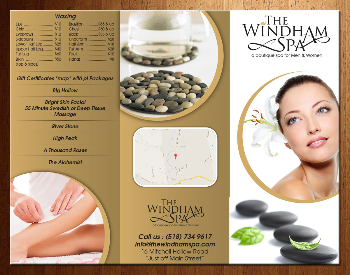 Upmarket Playful Brochure Design for The Windham Spa by – Spa Brochure