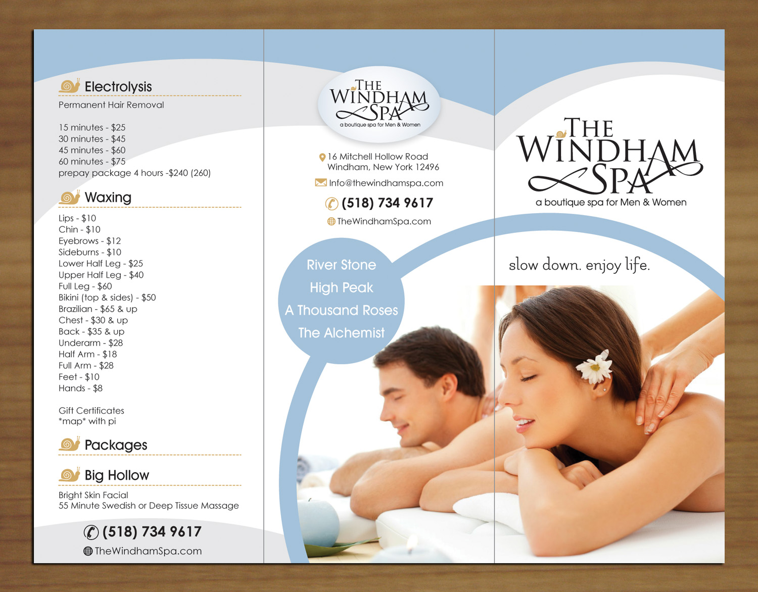 Upmarket, Playful, Business Brochure Design for The Windham Spa by ...